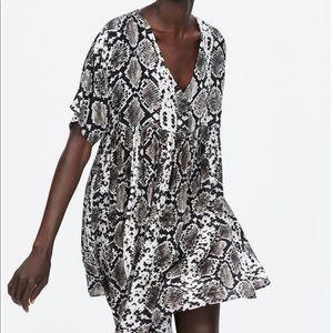 Zara snakeskin print dress